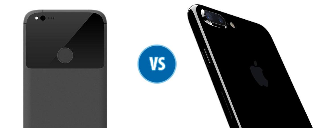 Combate Google Pixel vs iPhone 7