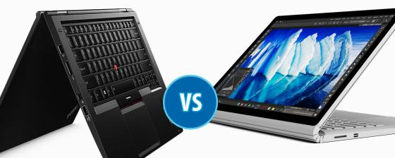 combate thinkpad x1 yoga vs surface book i7