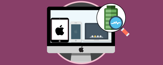 diagnosticar bateria iphone, iPad macbook