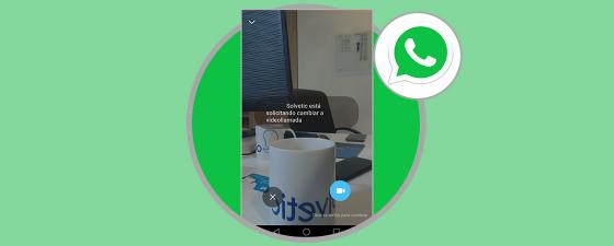 cambiar de llamada de voz a video en whatsApp sin colgar