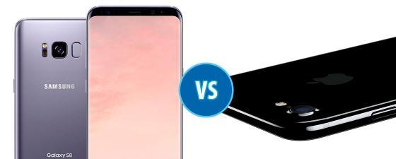 combate Samsung Galaxy S8 vs iPhone 7