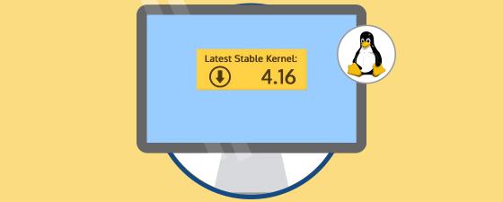 descargar linux kernel  4.16
