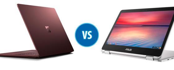combate: Microsoft Surface Laptop vs ASUS Chromebook Flip