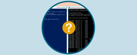 Diferencias entre Consola de comandos (cmd) y PowerShell