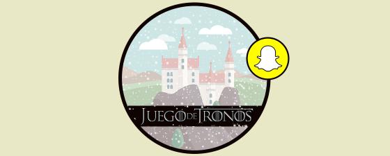activar filtro juego de tronos snapchat