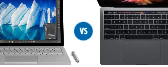 combate macbook pro surface book i7