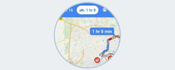 Google Maps ruta en moto
