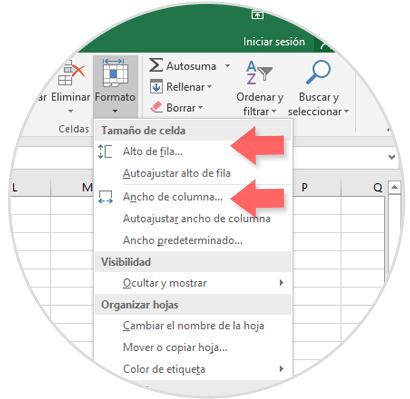 Cómo configurar altura y ancho en celdas y columnas Excel 2016 ...