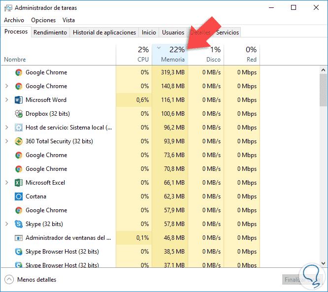 Cómo finalizar matar (kill) procesos Windows 10 - Solvetic