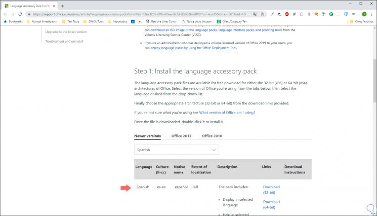 Cómo establecer Word 2019 o Excel 2019 en español - Solvetic