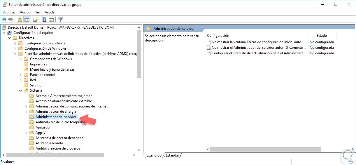 Deshabilitar inicio Server Manager en Windows Server 2016 - Solvetic