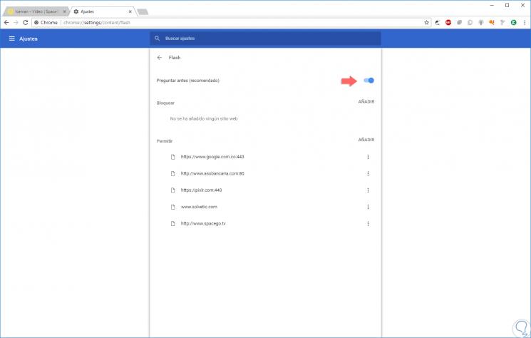 Cómo habilitar y actualizar Adobe Flash Player en Windows 10