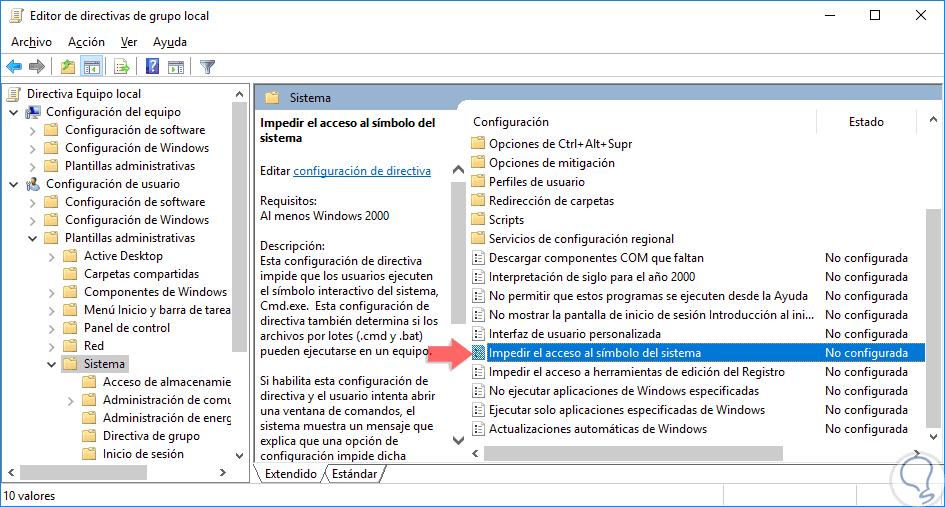 Cómo deshabilitar línea de comandos CMD en Windows 10, 8, 7 - Solvetic