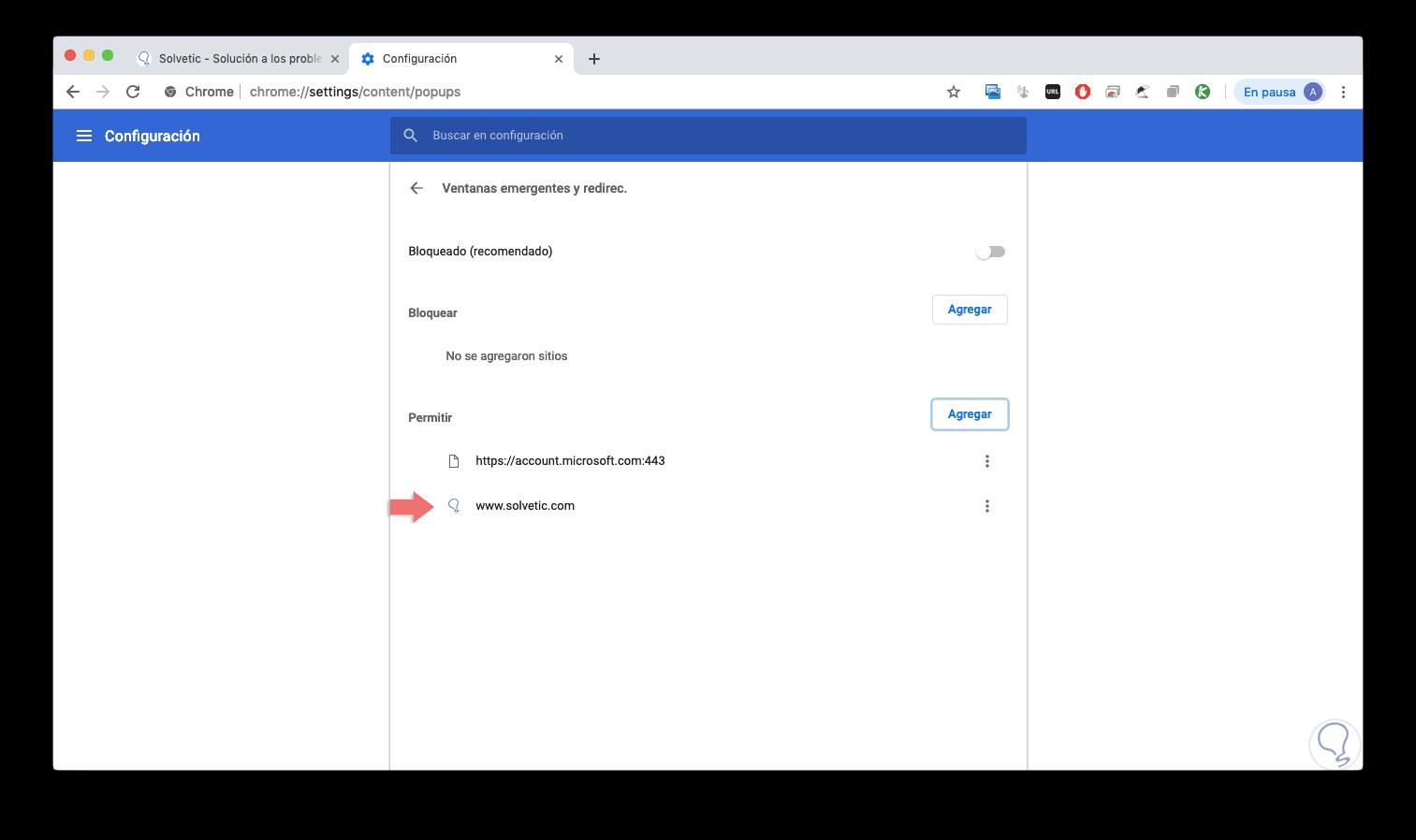 Como Desbloquear Ventanas Emergentes En Google Chrome Mac Solvetic