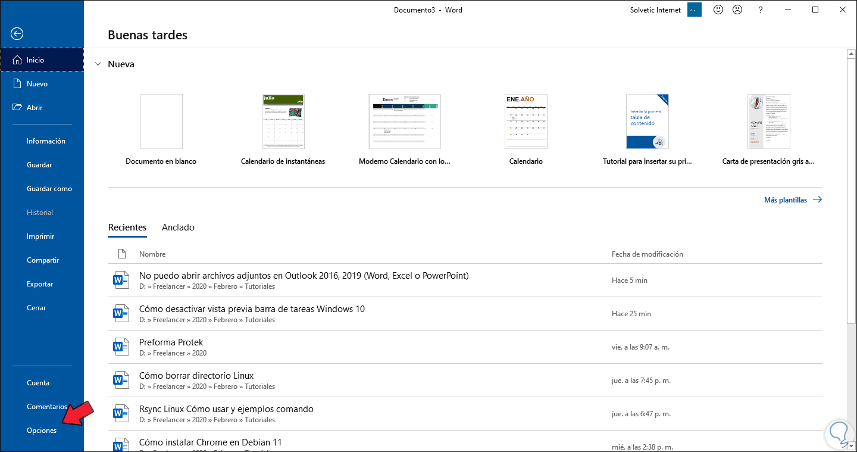No puedo abrir archivos adjuntos en Outlook 2016, 2019