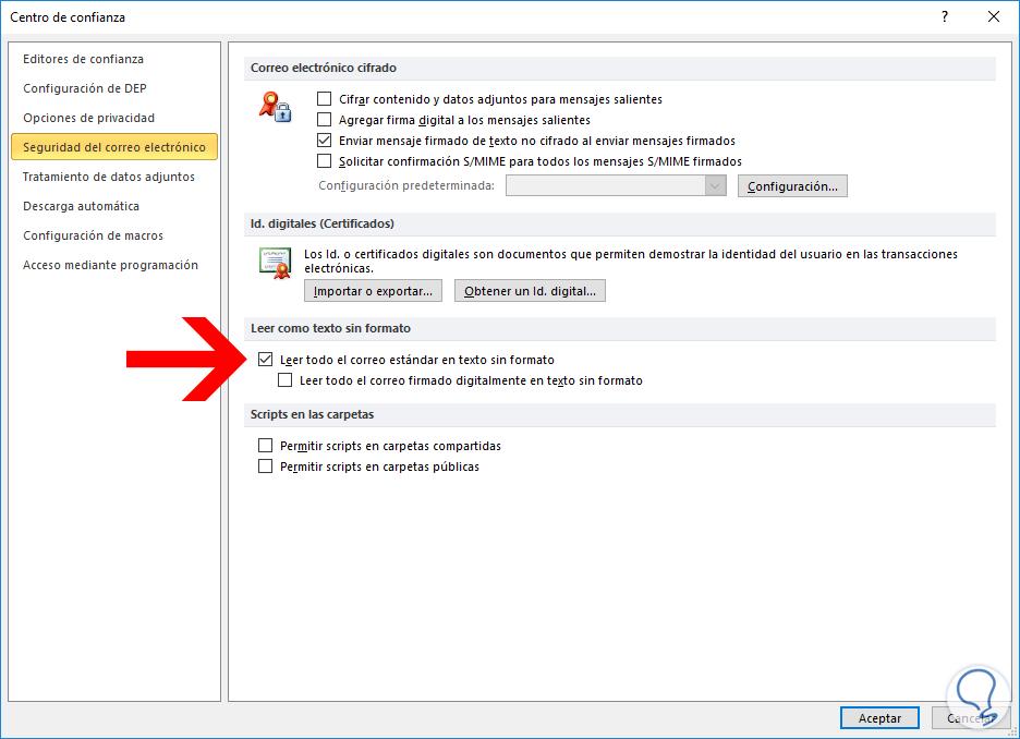 Convertir emails correos a texto plano Outlook 2016, 2013, 2010 ...