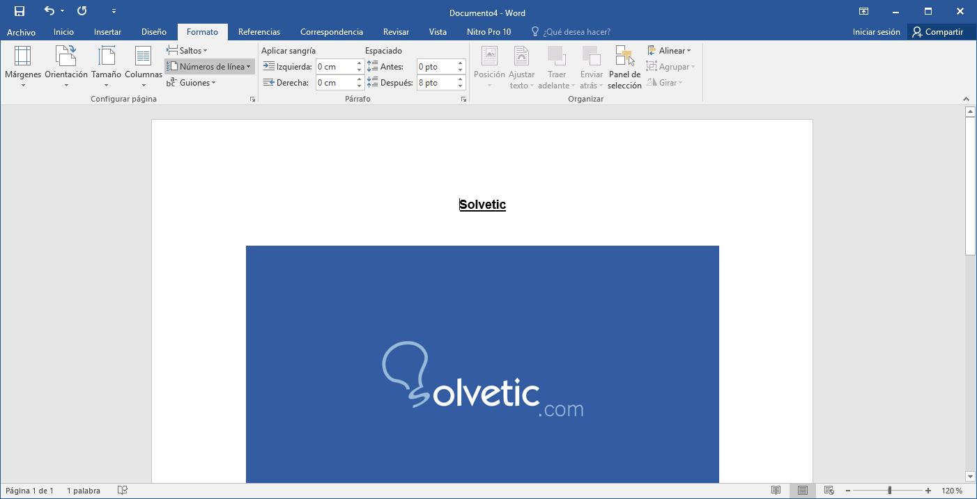 Cómo añadir número de página en Word 2016 - Solvetic