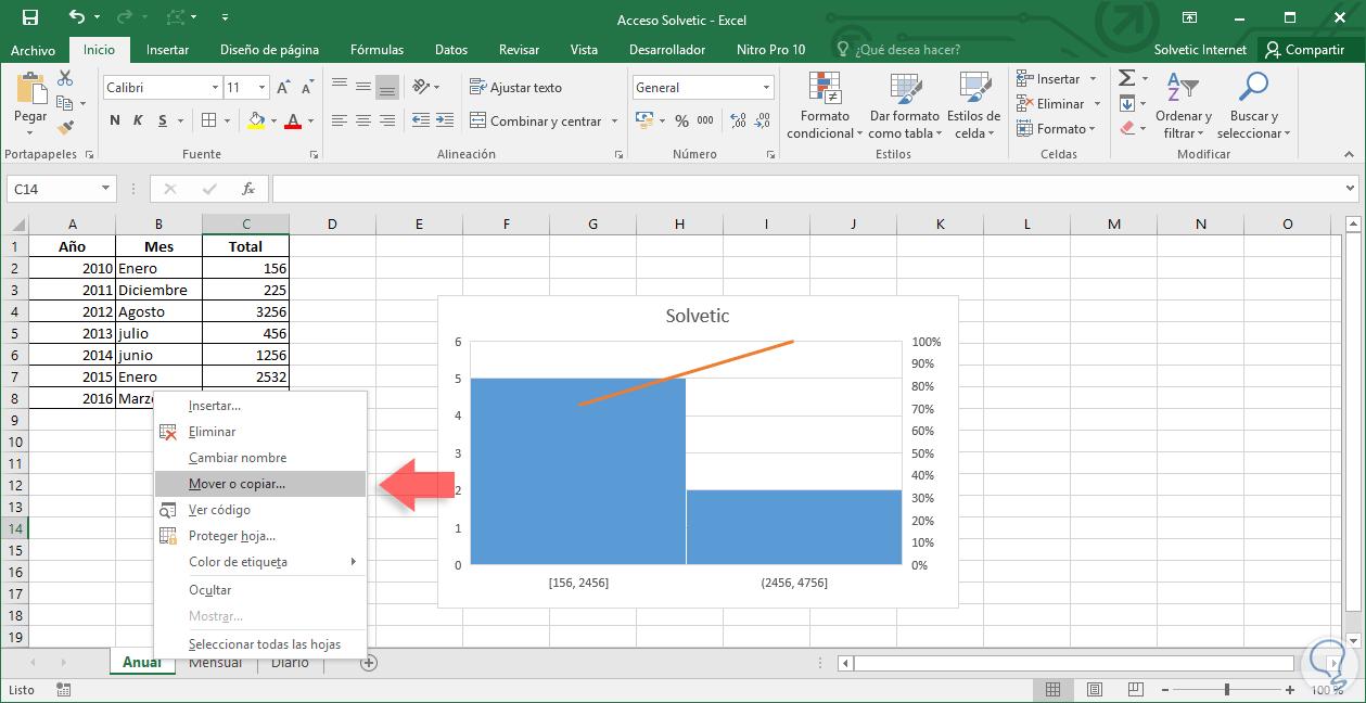 Cómo mover o copiar una hoja de trabajo a otro libro Excel 2016 ...