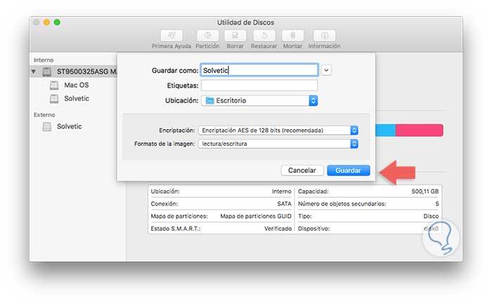 cifrar archivos mac os x