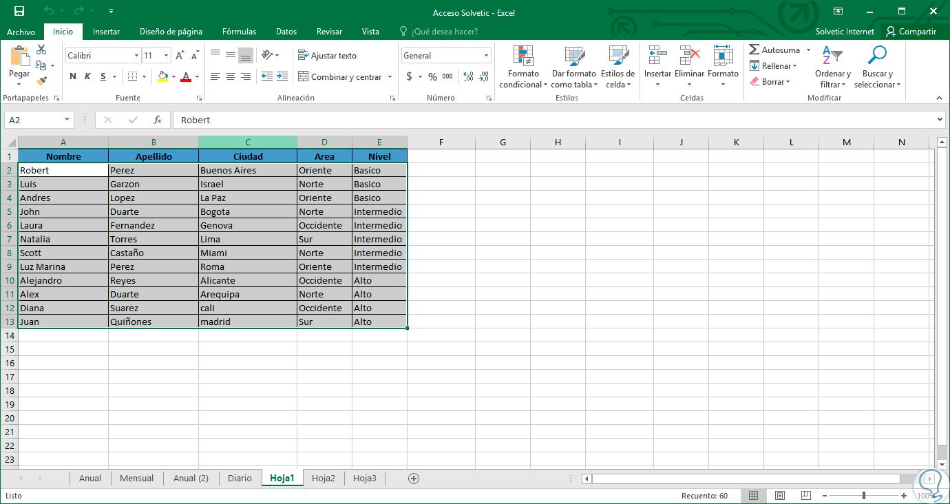 Cómo alternar color entre filas o columnas Excel 2016 - Solvetic