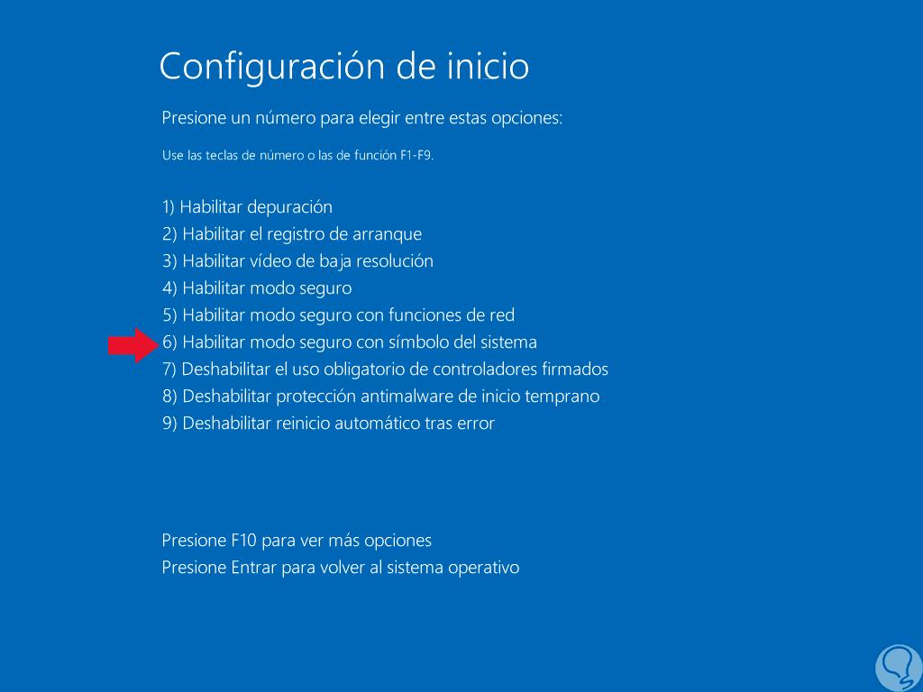 Cómo iniciar modo seguro con comandos CMD en Windows 10 - Solvetic