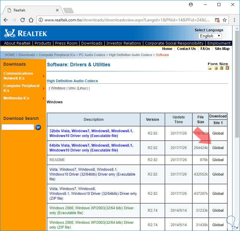 descargar realtek high definition audio windows 10