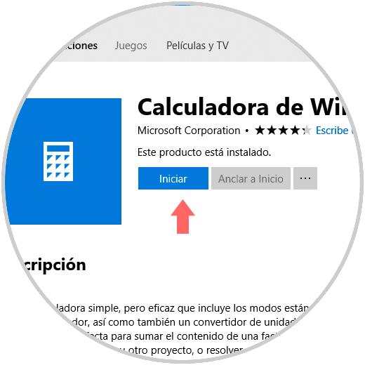 Solucionar error Calculadora no funciona en Windows 10