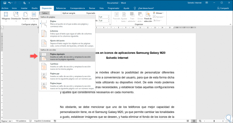 Cómo Centrar Un Texto Verticalmente En Word 2019 O Word 2016 Solvetic