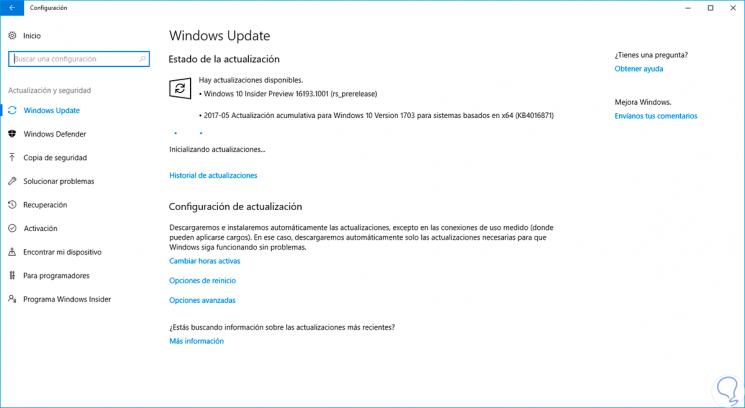 Solucionar error instalación o actualización Windows 10 Creators