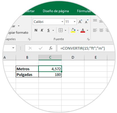Como Convertir Pies A Pulgadas O Metros En Excel 2016 Solvetic