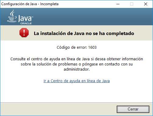 Error 1603 al instalar java 8 en Windows 10 - Solvetic