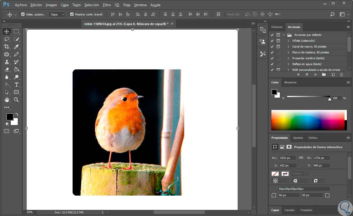 Redondear imagen y hacer cupón en Photoshop CS6, CC 2017 - Solvetic