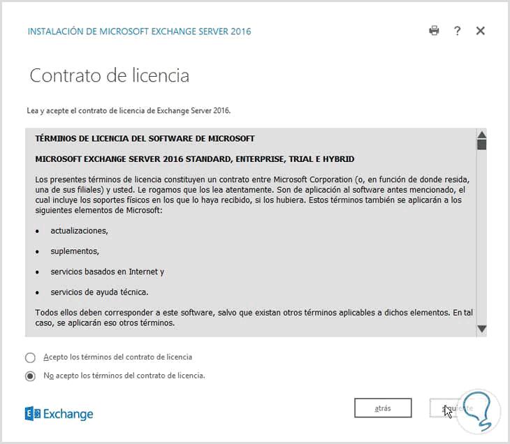 Manual para instalar Exchange Server 2016 - Solvetic