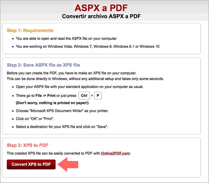 Cómo abrir archivo ASPX y convertir a PDF - Solvetic