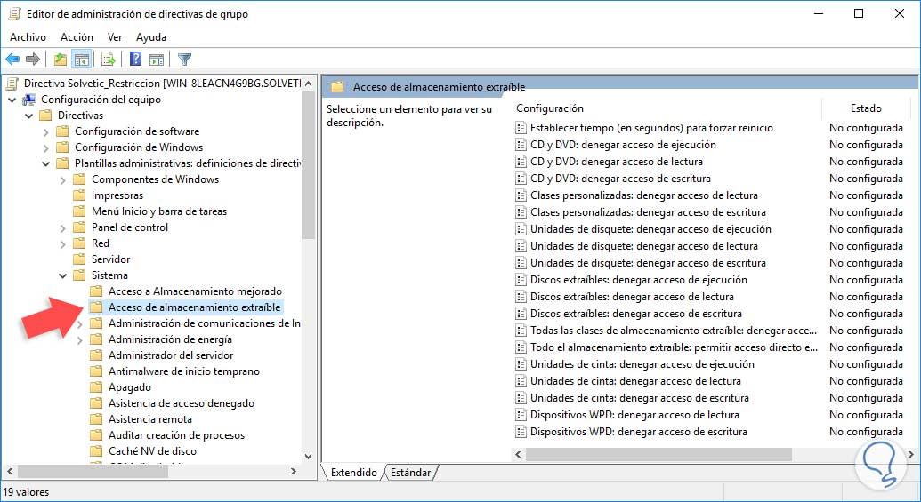 Cómo bloquear dispositivos USB en el dominio con GPO - Solvetic