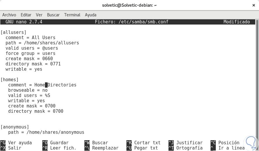 Cómo instalar servidor SAMBA en Debian 9 Linux - Solvetic