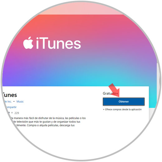 descargar itunes windows 10