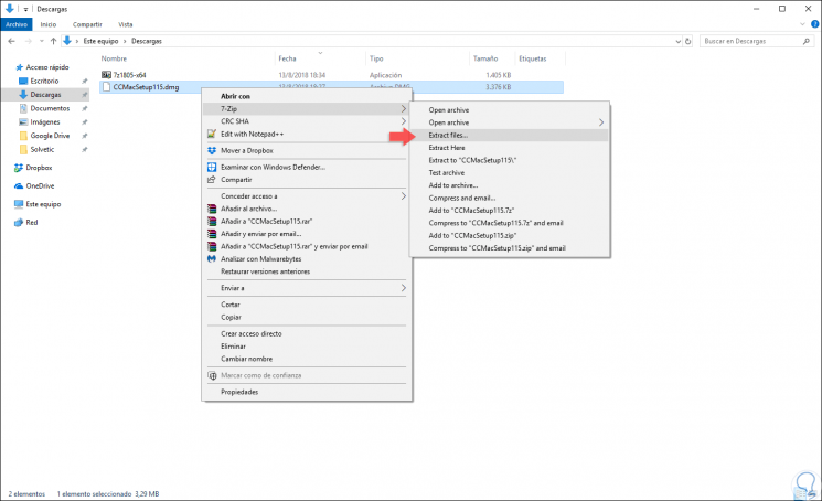 Cómo abrir archivo DMG en Windows 10, 8, 7 - Solvetic