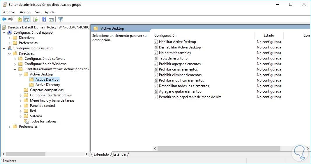 Cómo configurar fondo de pantalla Windows a través de GPO - Solvetic