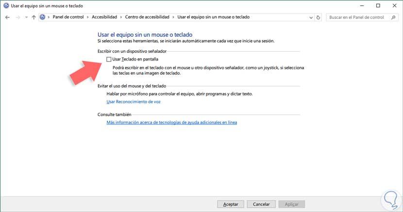Deshabilitar Teclado Tactil En Pantalla Inicio Windows 10 Solvetic