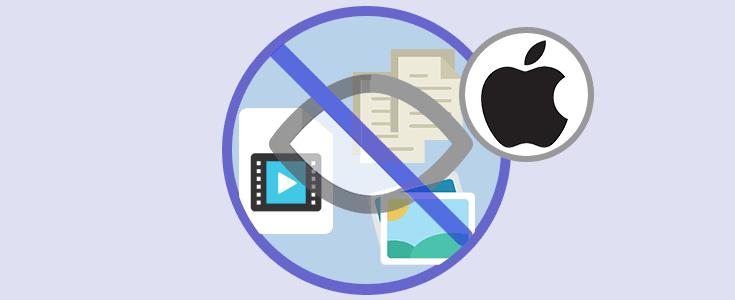 Cómo ocultar archivos, imágenes o vídeos Mac