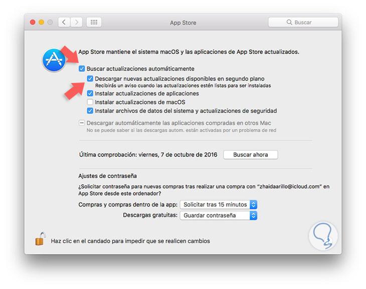Cómo parar y detener descarga automática macOS Sierra - Solvetic