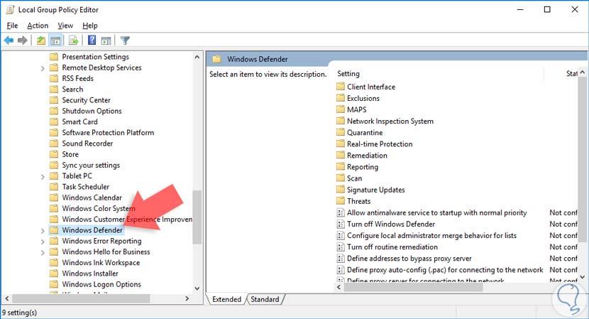 como desactivar windows defender por completo windows 10