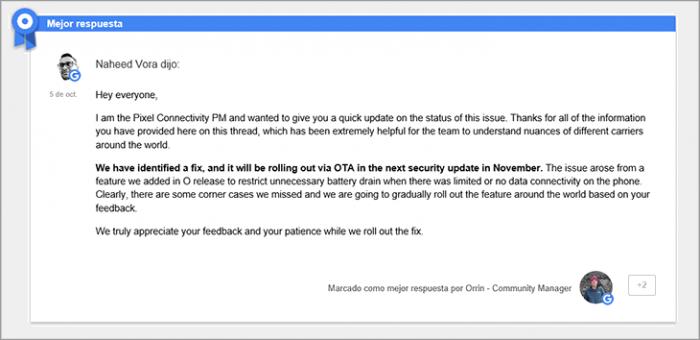 Imagen adjunta: respuesta-google-fallo-android-oreo.png