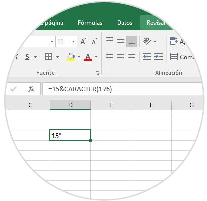 Cómo Insertar Símbolo De Grado En Excel 2016 2013 2010 Solvetic