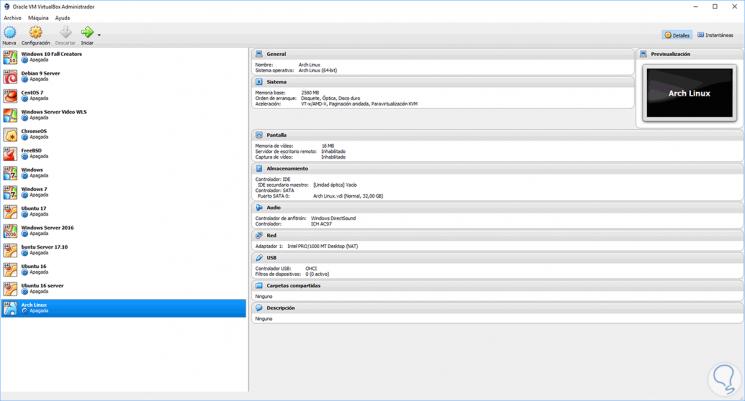 C u00f3mo instalar Arch Linux en VirtualBox   Solvetic