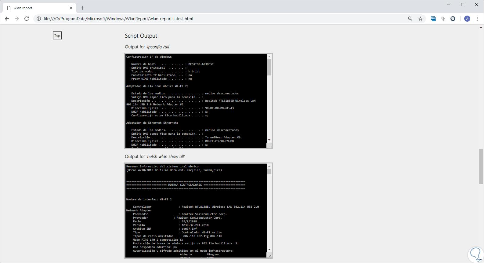 Cómo analizar y crear informe WiFi en Windows 10 - Solvetic
