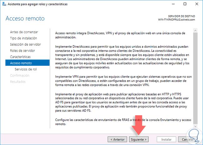 Configurar y optimizar VPN en Windows Server 2016 - Solvetic