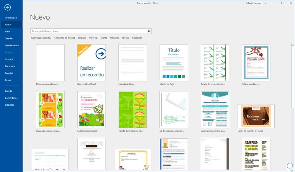 Cómo crear calendario 2018 en Word o Excel 2016 - Solvetic