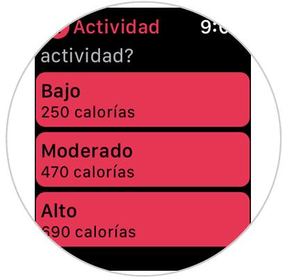 que calorias tiene el apple watch